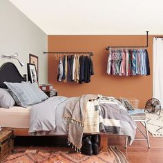 Most Stylish Bedroom Color Combination Ideas to Steal Contemporary Bedroom Furniture, Modern Bedroom Design, Terracota, Bedroom Color Combination, Best Bedroom Paint Colors, Bedroom Orange, Stylish Bedroom, Bedroom Styles, Beautiful Bedrooms