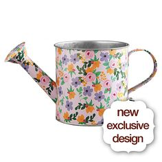This colorful garden perfectly embodies the start of the new season. Tulip, hyacinth, and narcissus bulbs are nestled together in a fun and colorful, custom designed tin watering can.  It will bloom brightly before your loved one's eyes.
