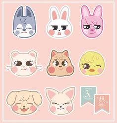 Kids Stickers, Printable Stickers, Cute Stickers, Laptop Wallpaper, Cool Wallpaper, Aesthetic Themes, Journal Stickers, Kpop Fanart, Cute Drawings