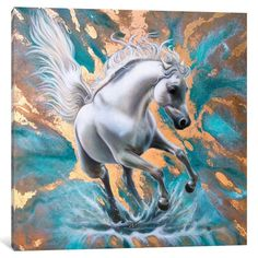 Shop for iCanvas ''Copper Stallion'' by Sandi Baker. Get free delivery On EVERYTHING* Overstock - Your Online Art Gallery Store! Canvas Artwork, Canvas Prints, Bear Art, Wildlife Art, Horse Art, Online Art Gallery, Note Cards, Original Paintings, Copper