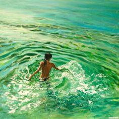 """#Realistic painting """"Rayon vert"""" - Antoine RENAULT"""