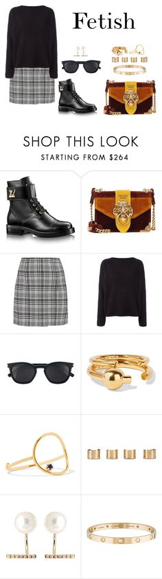 """F.e.t.i.s.h"" by anaelle2 ❤ liked on Polyvore featuring Prada, Off-White, Balmain, Yves Saint Laurent, Maria Black, Sarah & Sebastian, Maison Margiela, Hirotaka and Cartier"