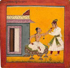 Tilanga Ragini, Page from a Ragamala series Basohli, c. 1690-1700