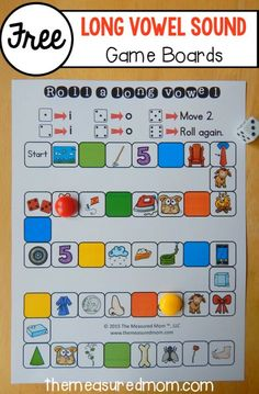 free roll a long vowel games