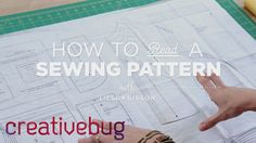 How to read a sewing pattern.  Free video tutorial.