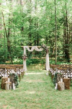 40 Ideas Backyard Wedding Centerpieces Tree Stumps For 2019 wedding tree 40 Ideas Backyard Wedding Centerpieces Tree Stumps For 2019 Propositions Mariage, Wood Wedding Decorations, Tree Wedding Centerpieces, Ceremony Decorations, Wedding Isles, Cottage Wedding, Wedding In The Woods, Woods Wedding Ideas, Woods Wedding Ceremony