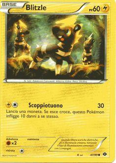 Carta Pokemon Blitzle nero e bianco destini futuri 47/99 comune nuova
