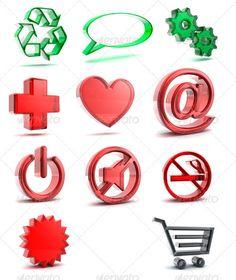 Glossy Glass Symbols, 11 different Files