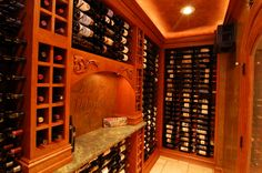 Inside the home wine cellar by jDj lifestyle design remodel in Greenfield, WI