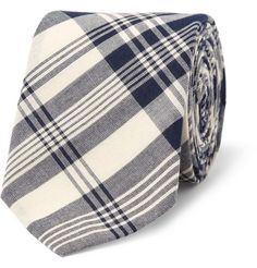 J.Crew  Slim Madras-Check Cotton Tie