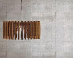 bois suspension découpé au laser lustre lampe par AAarchiTECtureLab