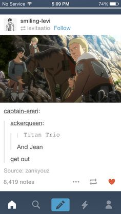 And Jean... don't forget that horse face is apart of that picture... 'Pfffffffffft' hahahahaha