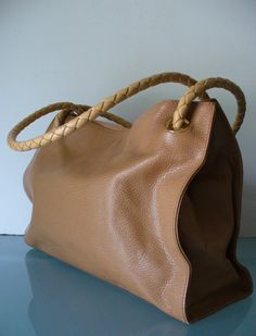 46f762901f Desmo Made in Italy Butterscotch Pebbled Leather Tote Bag