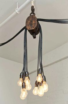 Pulley Recycled into Industrial Farmhouse Lighting..