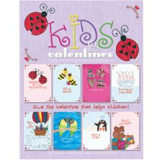 Kids Valentines that make life better for children with cancer!  32 fold-over cards with tab closure, four each of eight designs with whimsical messages