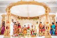 Siyamini & Tim's beautiful Tamil Hindu wedding at the Oshwal Centre. Hindu Wedding Ceremony, Tamil Wedding, Wedding Mandap, Wedding Venues, Hindu Weddings, Wedding Ideas, Marriage Hall Decoration, Wedding Hall Decorations, Wedding Cards Handmade