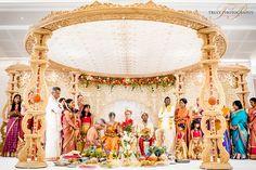 Siyamini & Tim's beautiful Tamil Hindu wedding at the Oshwal Centre.