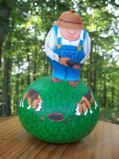 Rabbit Hunting Gourd by PlanetEarthFarm on Etsy, $45.00