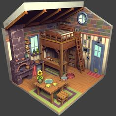 House design games: pin by game art resource on environments: dioramas, cro Game Design, Bg Design, House Design, Game Environment, Environment Concept Art, Environment Design, Pixel Art, Isometric Art, Hand Painted Textures