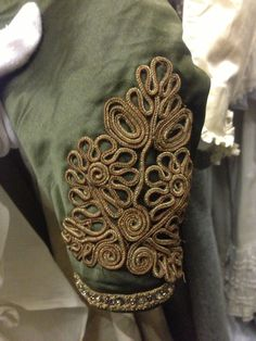 Sleeve embroidery- passementerie detail
