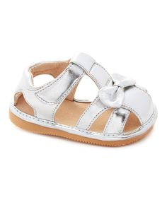 Silver Bow Squeaker Sandal