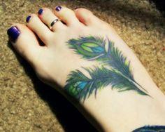 Peacock Peace Tattoo