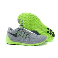 Lightweight Nike Free 5.0 Men's Running Shoe Gray Green