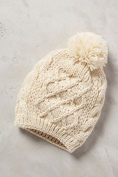 cable knit beanie / anthropologie