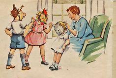 Vintage kids in masks   via Shelece