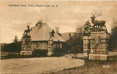tupper lake ny   Details about NY-TUPPER LAKE-LITCHFIEL D PARK GATE-Q2229