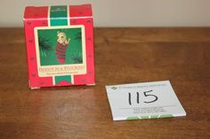 1985 Hallmark - DOGGY IN A STOCKING - Schnauzer ornament - NEW IN BOX Hallmark Christmas Ornaments, Schnauzer, Stockings, Box, Socks, Snare Drum, Standard Schnauzer, Panty Hose, Sock