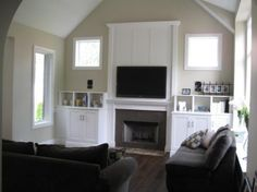 flat screen tv over fireplace problems | Living Room with TV above Fireplace Decorating Ideas | Design | House ...