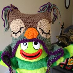 Free Crochet Owl Hat Pattern. Here is the link. http://www.slugsontherefrigerator.com/files/woolly-owl-hat-v2-1.pdf