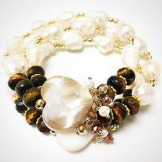 Bracelets By Vila Veloni Beautiful White Pearl Heart