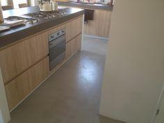 betonvloer in keuken
