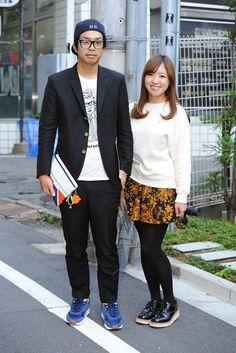 Tokyo Fashion Week street style. [Photo by Yukie Miyazaki]