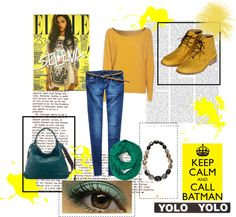"""yellow & green"" by barbara-bragatto on Polyvore"