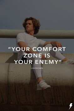 """Your comfort zone is your enemy"" - unknown Comfort Zone, Athlete, Fitness, Inspiration, Biblical Inspiration, Excercise, Health Fitness, Inhalation"