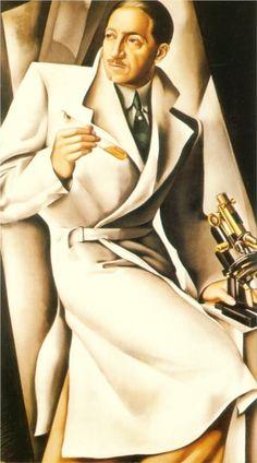 Portrait Of Dr. Boucard, 1929-Tamara de Lempicka - by style - Art Deco