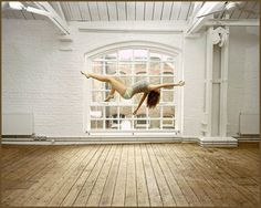 Suspended self portraits by Sam Taylor Wood