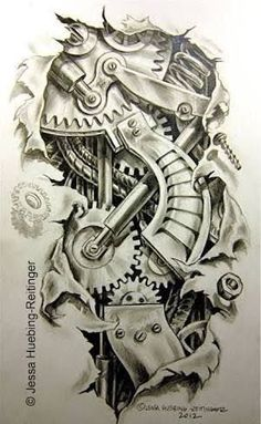 tatto art drawing gear and cable wire sketches Tattoo Design Drawings, Tattoo Sleeve Designs, Tattoo Sketches, Sleeve Tattoos, Biomech Tattoo, Biomechanical Tattoo Design, 3d Tattoos, Skull Tattoos, Body Art Tattoos