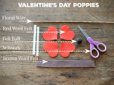 Handmade for the Natural Home New Crafts, Easy Diy Crafts, Crafts To Sell, Crafts For Kids, Felt Flower Tutorial, Diy Tutorial, Felt Tutorial, Valentine Crafts, Valentines