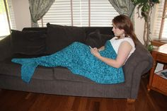 Mermaid Tail Lapghan Blanket Knitting Pattern for by 4aSong