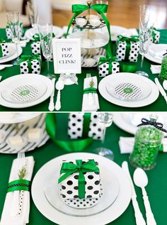 Cute Kate Spade Inspired Holiday Party Table for Christmas ideas!