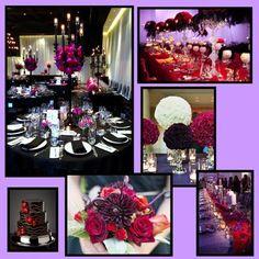 Red Purple Wedding On Pinterest