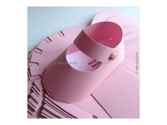 VALENTINE OFFER . 10 Pink Paper Shoe 3D Gift Box por Marzycards