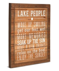 'Lake People' Wall Art #zulily #zulilyfinds