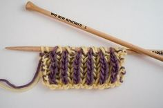 Today we'll show you how to knit Brioche stitch on two needles. It's the trending stitch, you can knit it in one or two colors, which ever you prefer. Knitting Stiches, Crochet Stitches, Hand Knitting, Knit Crochet, Knitting Kits, Crochet Mandala, How To Purl Knit, Yarn Needle, Knitting Designs