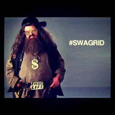 Just me and Hagrid livin' the thug life(: