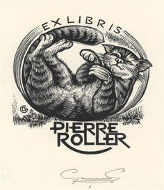 Gerard Gaudaen (Belgian, 1927-2003).  Ex Libris Pierre Roller.